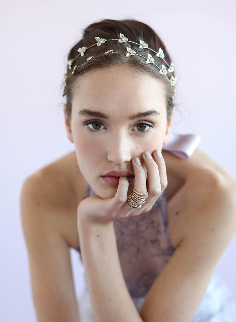 Boho daisy dainty hair vine, bridal hair vine, twigs and honey
