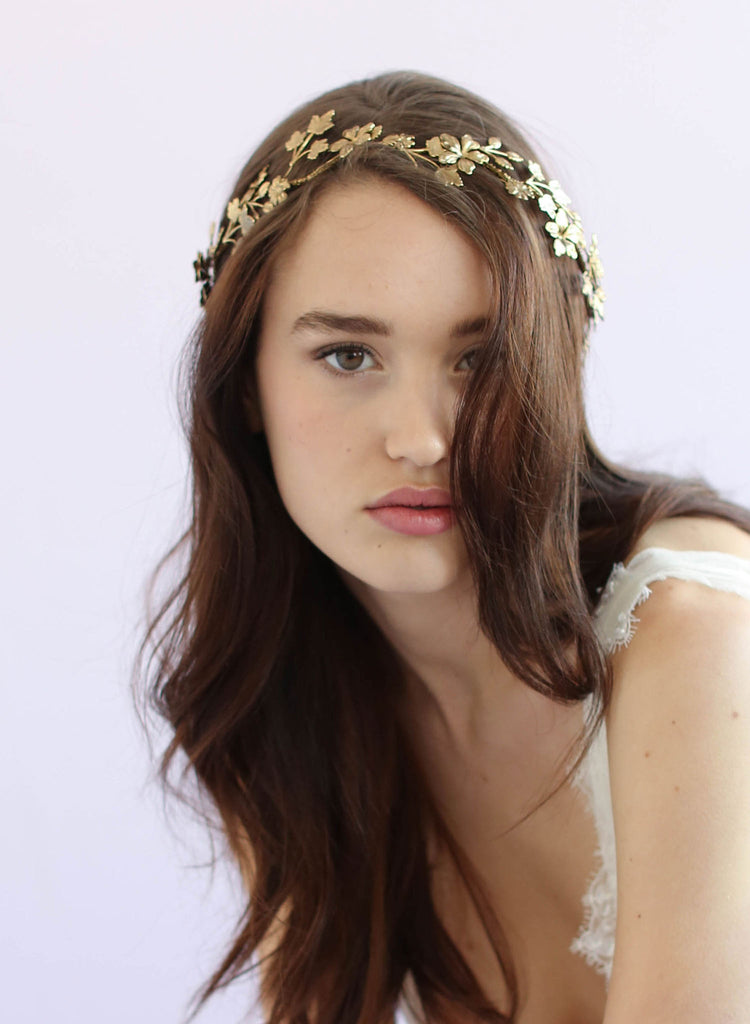 Wavy vintage bridal headband, twigs and honey, bridal headband