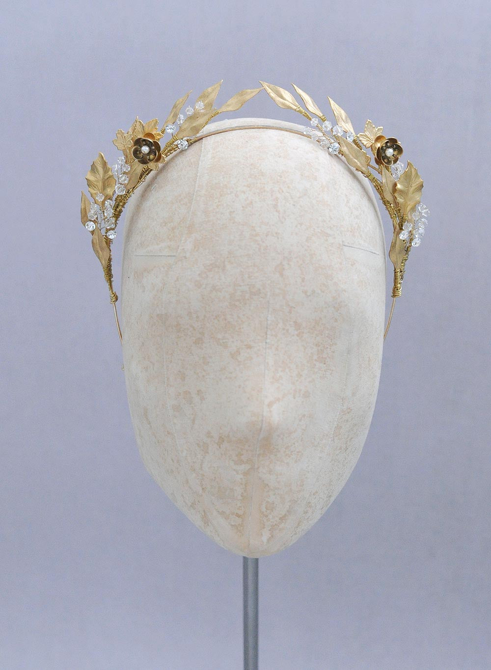 Symmetrical ornate gilded headband - Style #652