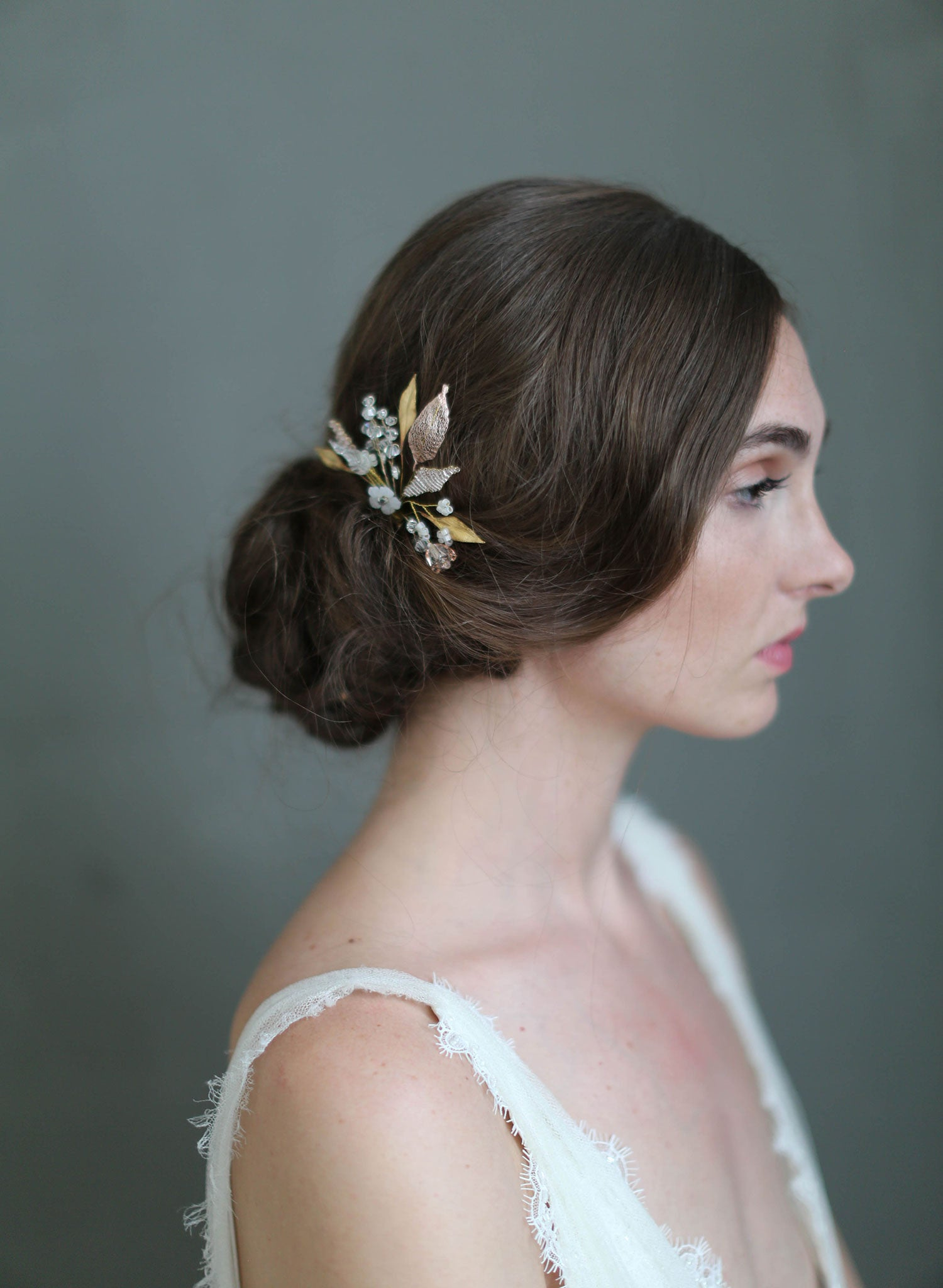 bridal hair pin - charming blossom hair pin - style #715 | twigs