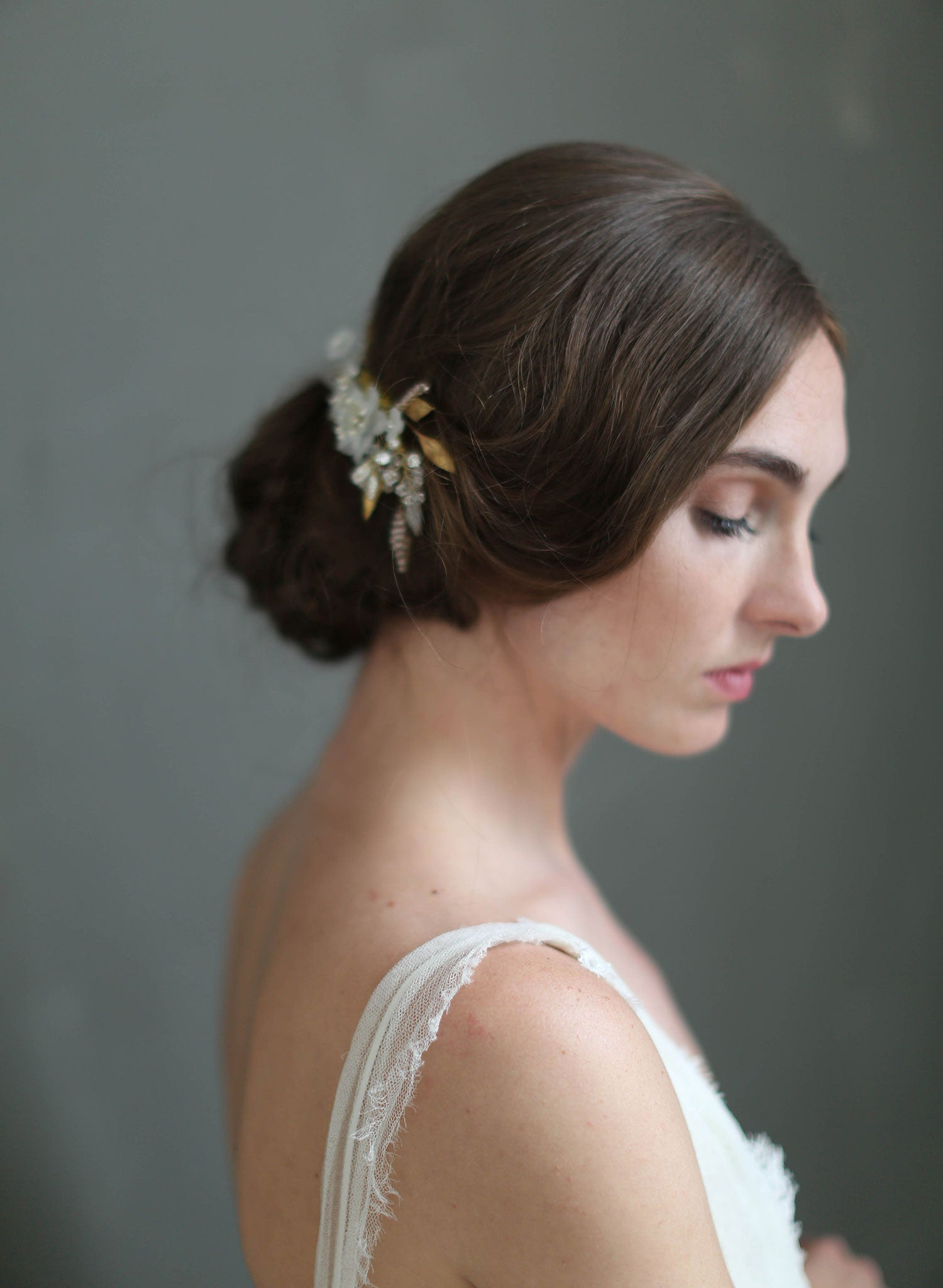 Bridal Hair Comb Mystic Floral Crystal Hair Comb Style 716