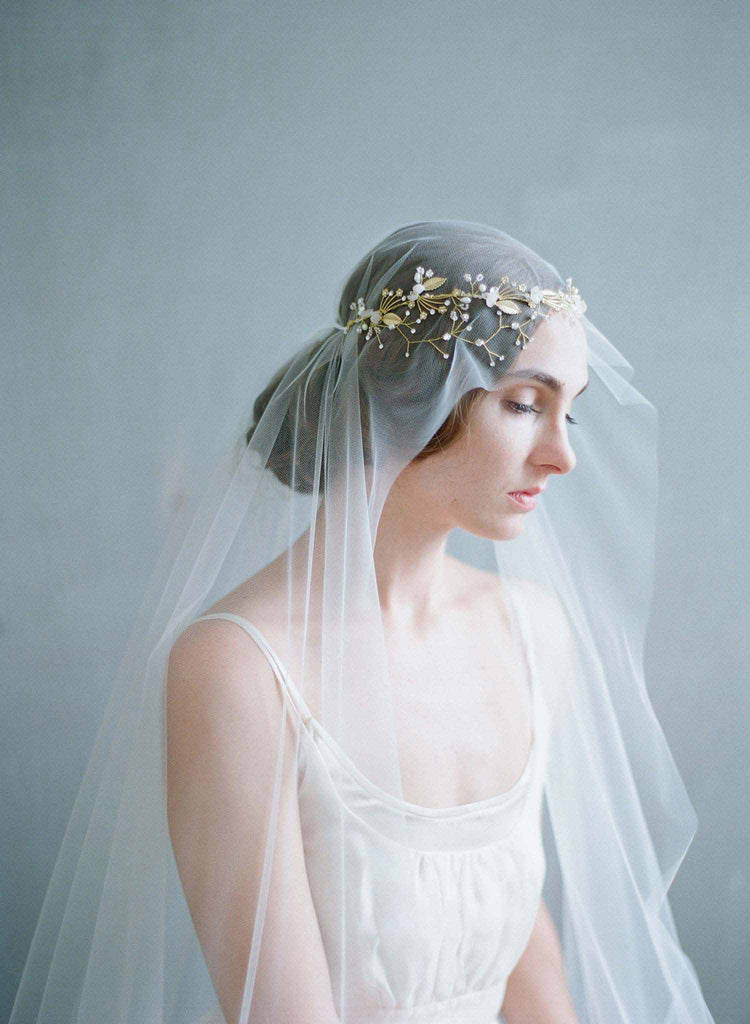 dainty bridal headband, bridal headpiece, garden inspired wedding headband, twigs and honey, bridal accessories