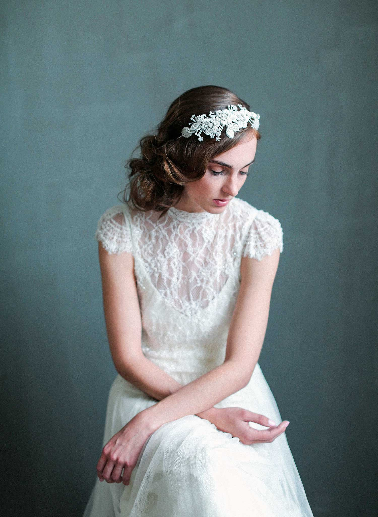 bridal headpiece twigs and honey