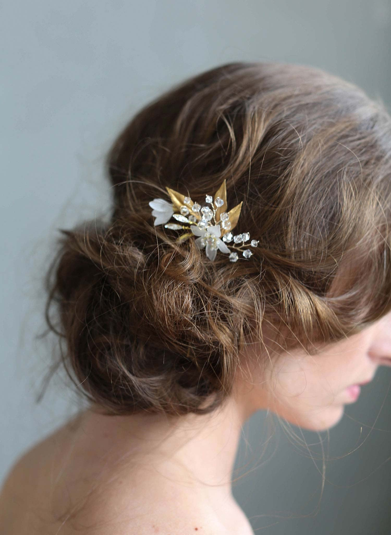 Frosted garden trinkets hairpin - Style #731
