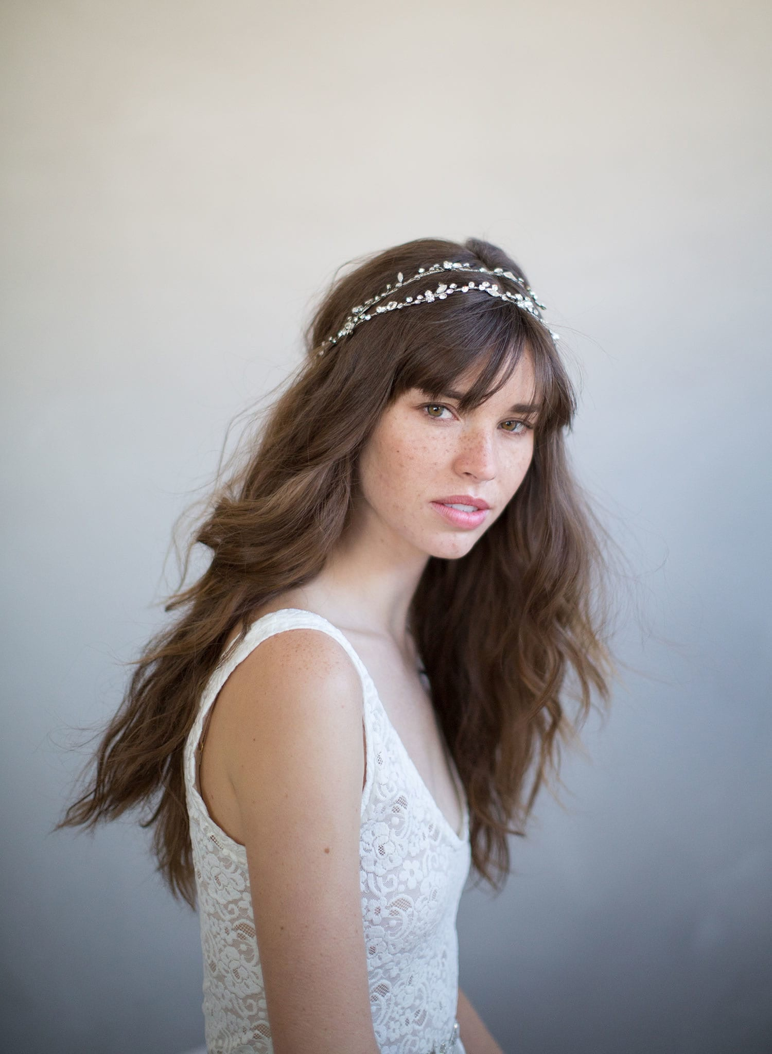 Bridal Hair Vine Extra Long Simple Crystal Hair Vine Style 735