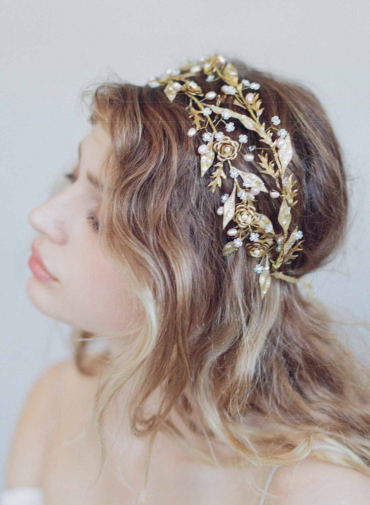 Double band dewdrop leaf headpiece - Style #750