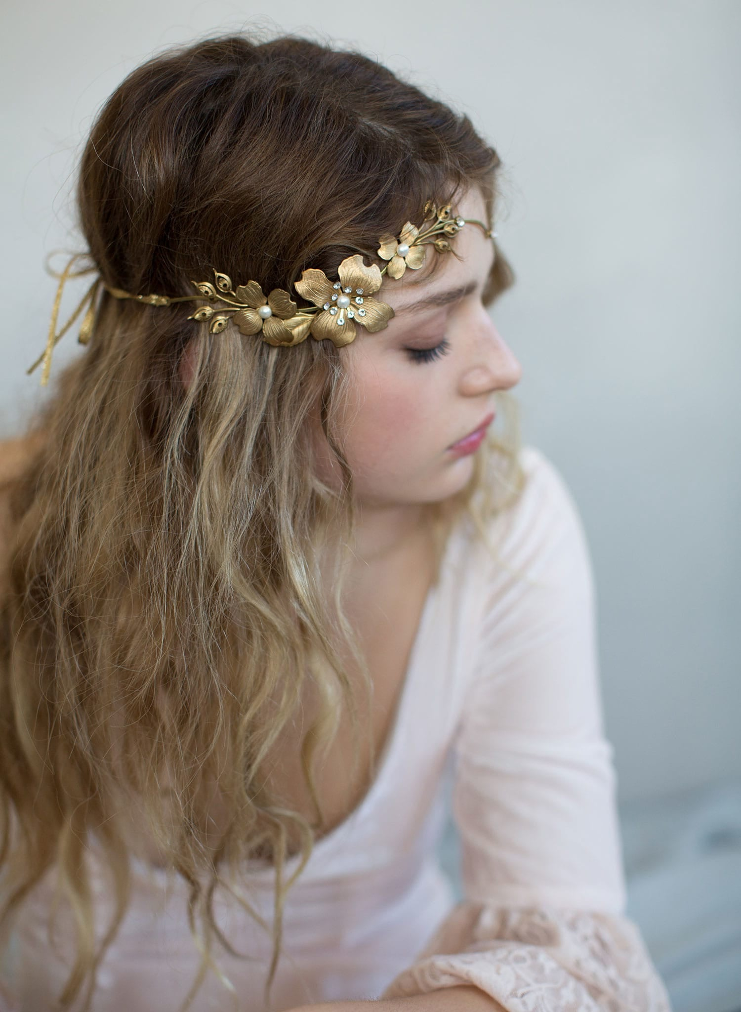 Br Bridal Headpieces Twigs And Honey -  floral headband boho headpiece bridal headpiece wedding accessory nature inspired twigs