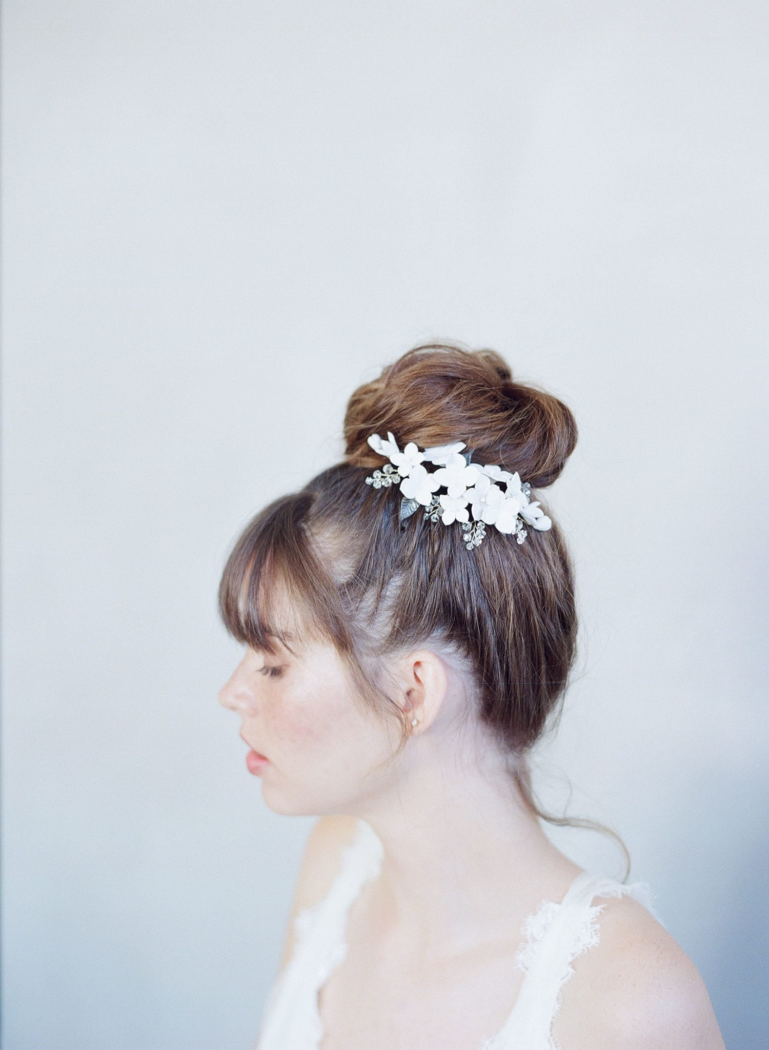 Cherry blossom and sparkle hair comb - Style #759