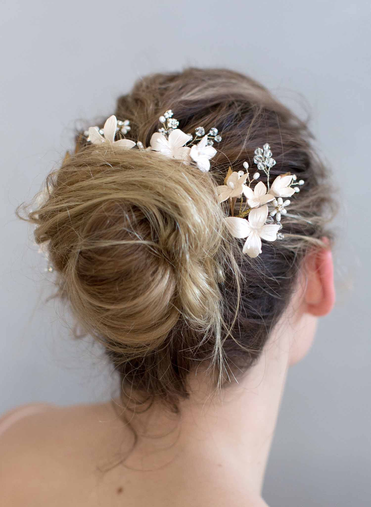 Cherry blossom hair pin and comb set - Style #768