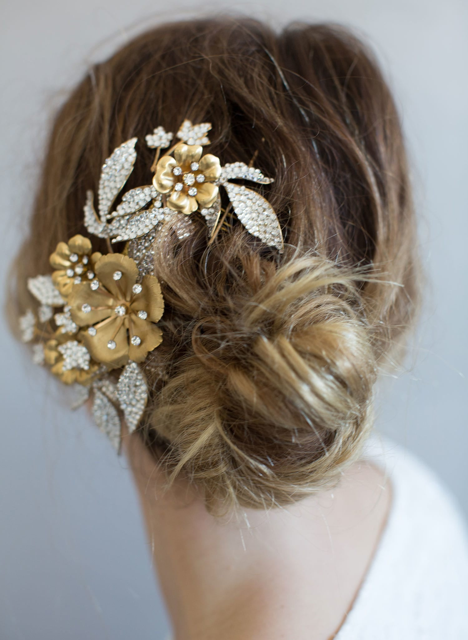Br Bridal Headpieces Twigs And Honey -  rhinestone encrusted headpiece bridal headpiece nature inspired hair comb twigs and honey