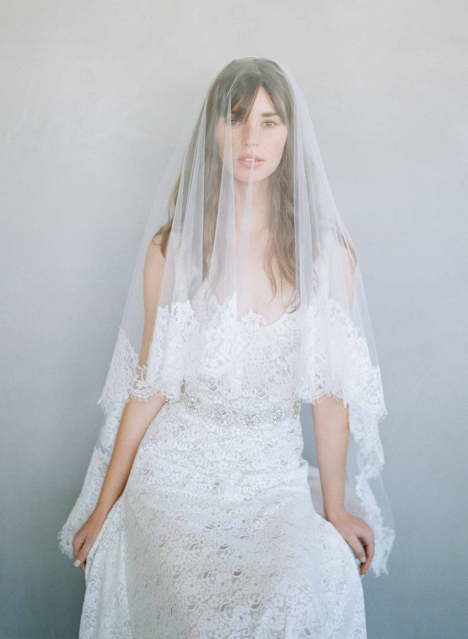 twigs and honey french lace veil