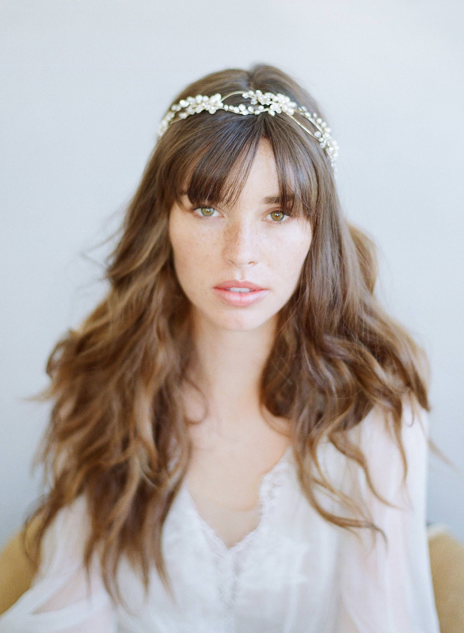 bridal crystal headpiece, twigs and honey