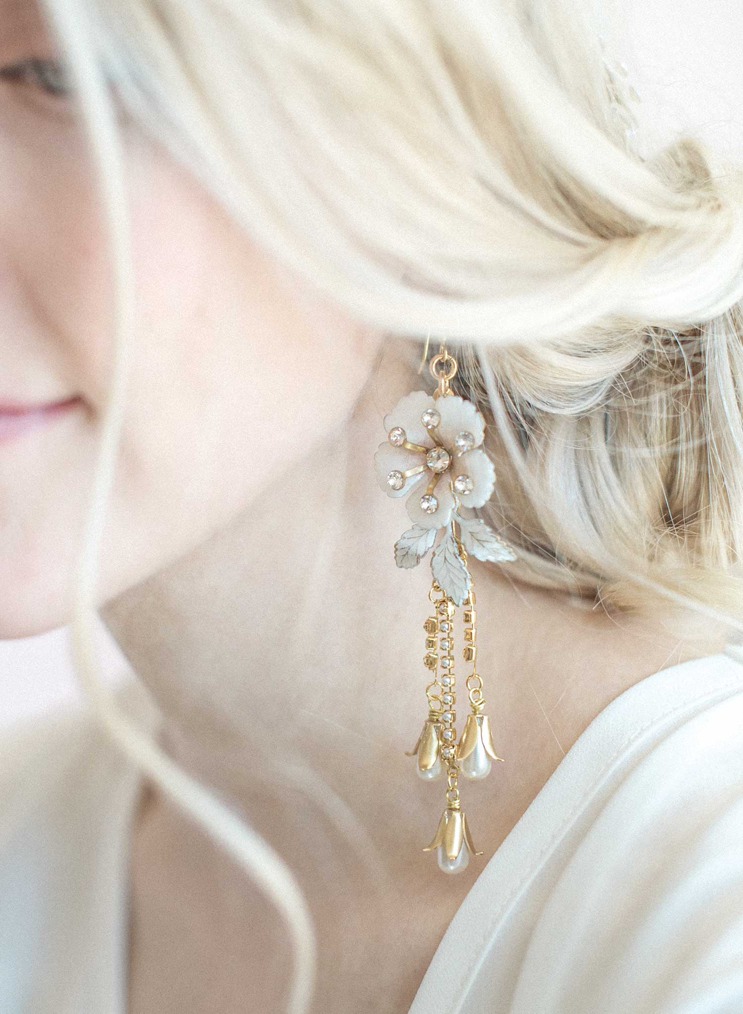 Sugar blossom and dew drop earrings - Style #821