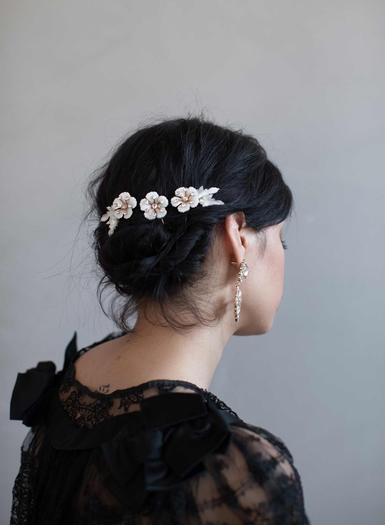 Sugar blossom hair pins set of 3 - Style #822