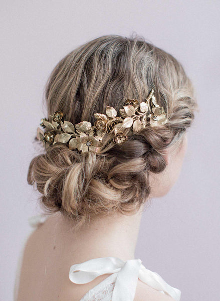 Antique gold flower wreath