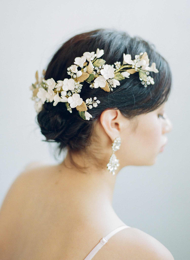 Dramatic floral garden headpiece - Style #827