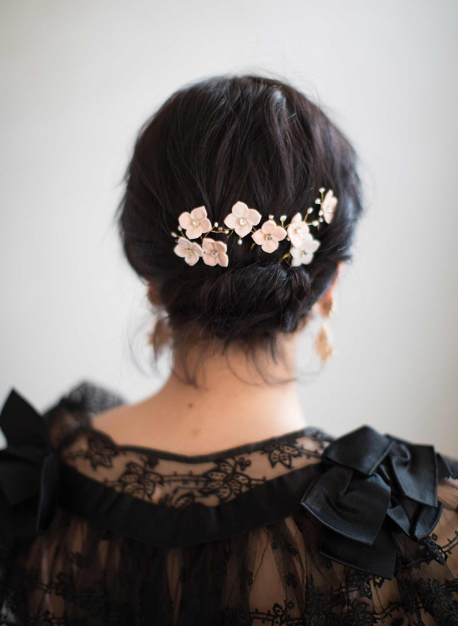 Blossom and pearl hair pin set of 4 - Style #838