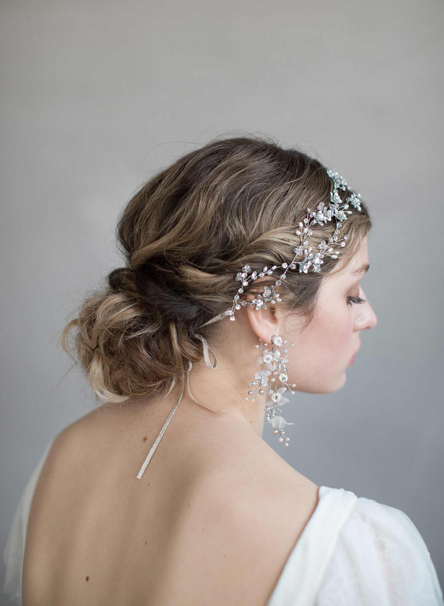 Crystal and rose infinity hair vine - Style #840