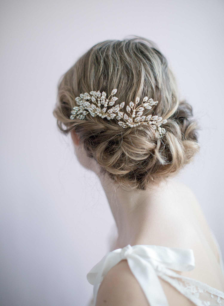 Crystal bridal hair pins headpiece, accessory
