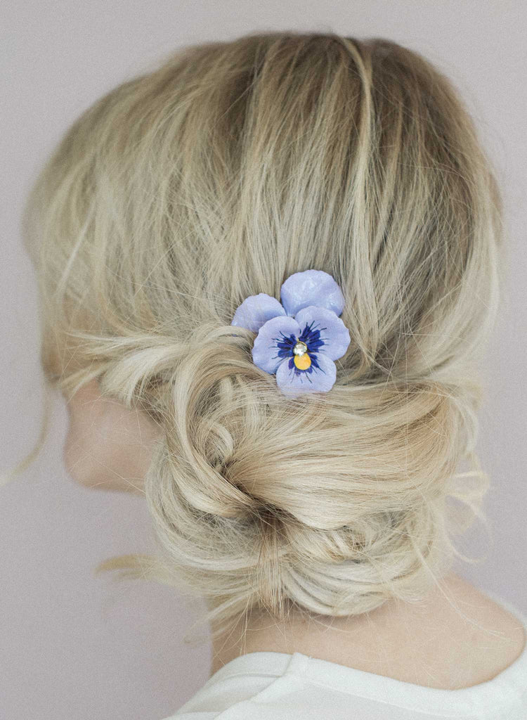 Pansy hair comb set of 2 - Style #847