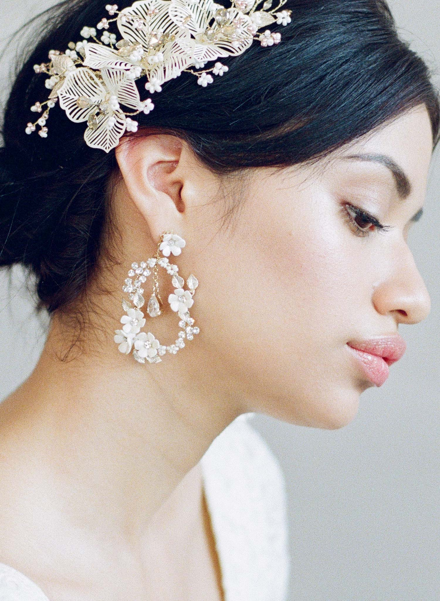 Porcelain blossom garden earrings - Style #857