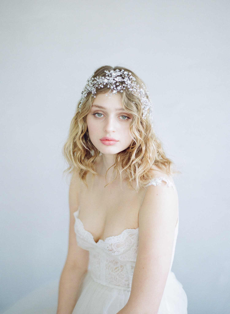 Sparkling crystal branch headpiece - Style #861