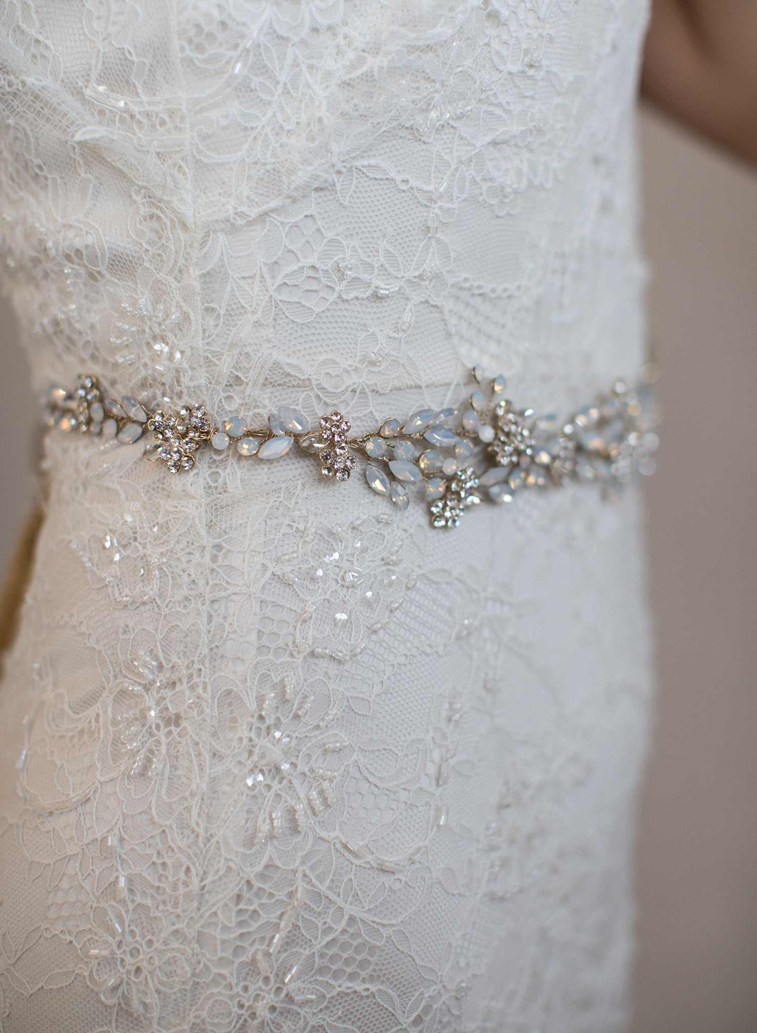 Love loops opal crystal belt or headpiece - Style #862