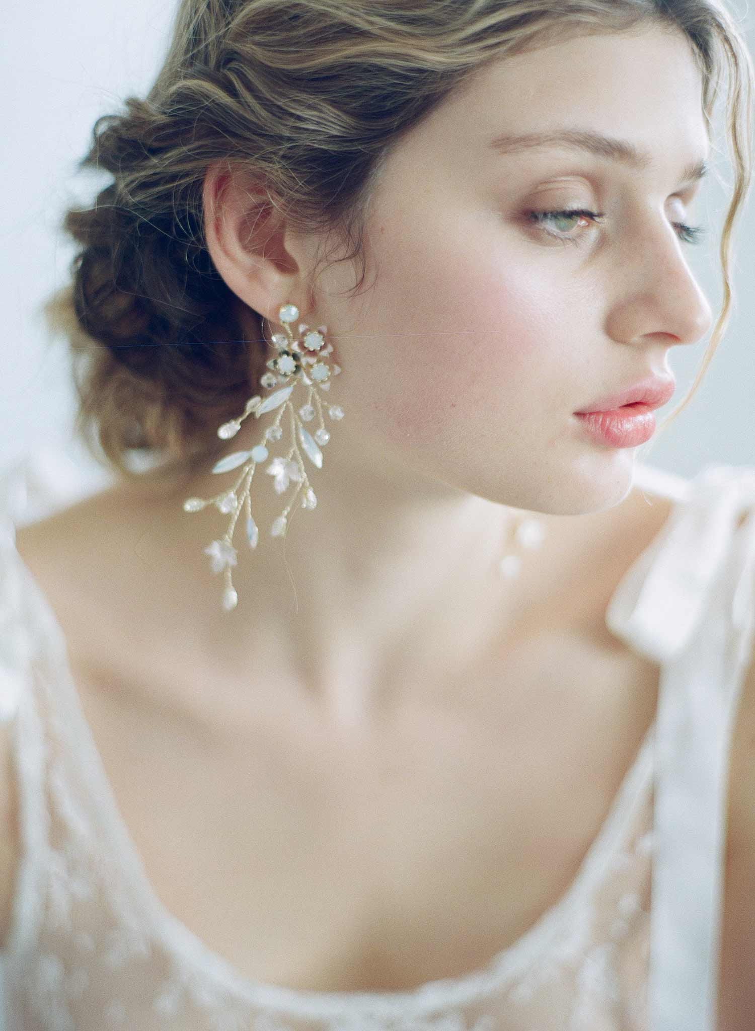 Sugar plum and crystal drops earrings - Style #865