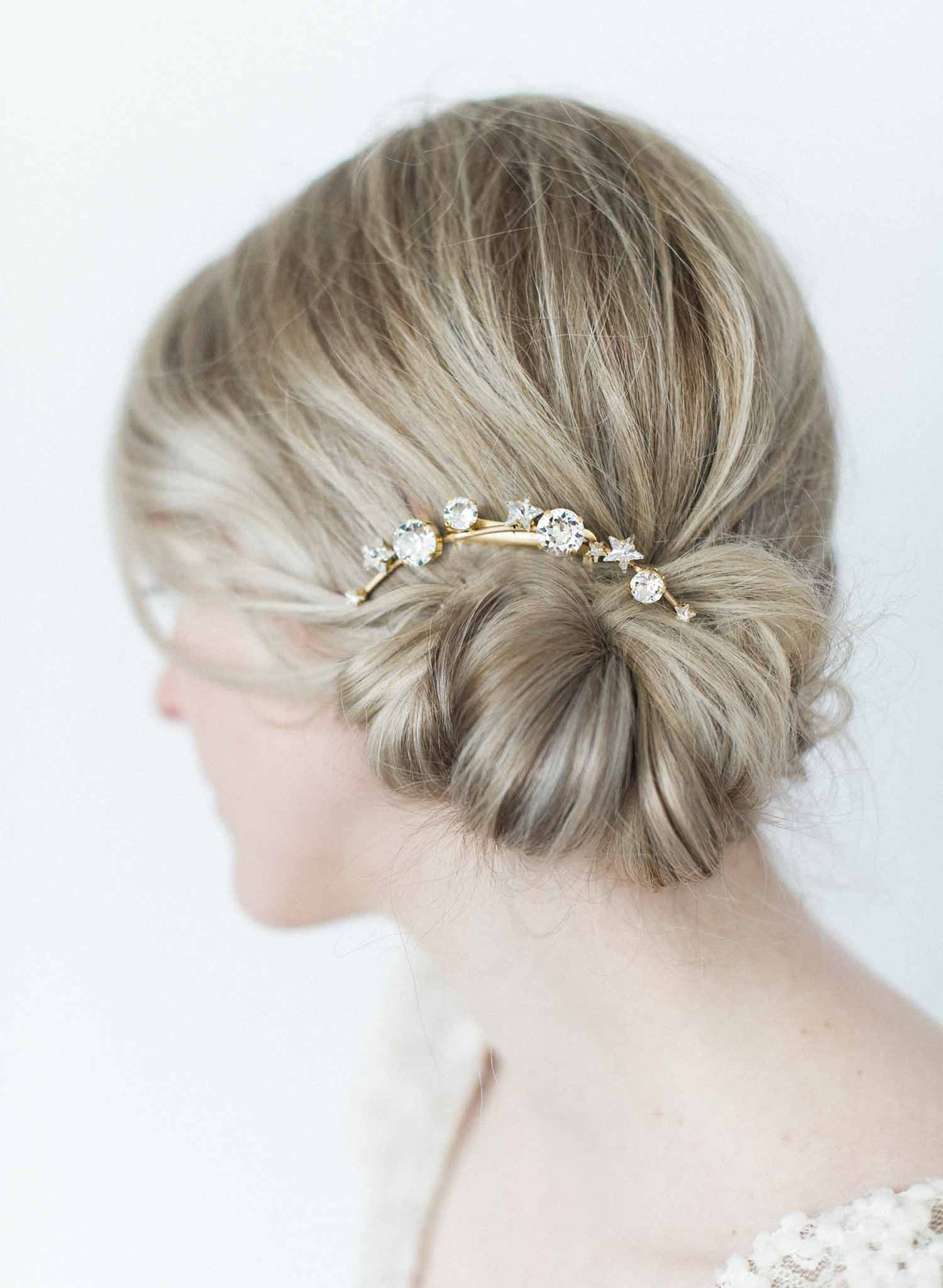 Under the starry skies crystal hair comb - Style #9001