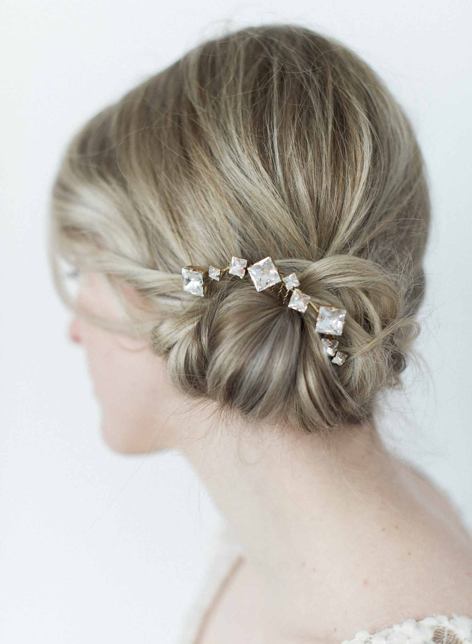 Crystal confetti hair comb - Style #9007