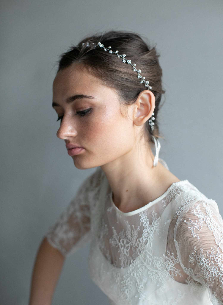 hair vine, crystal hair vine, crystals, twigs and honey, bridal hair accessory, wedding headband, wedding hair vine