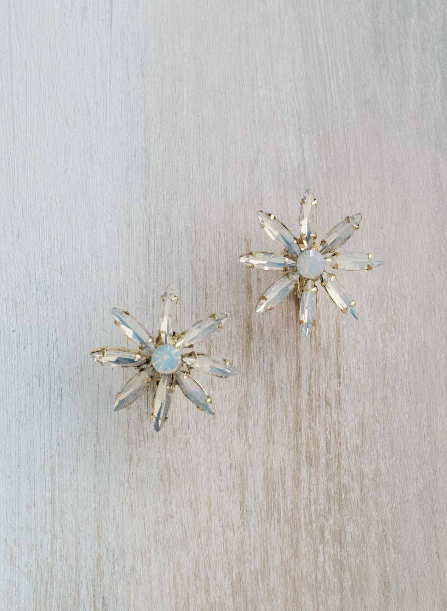 Opal starburst earrings   - Style #9020