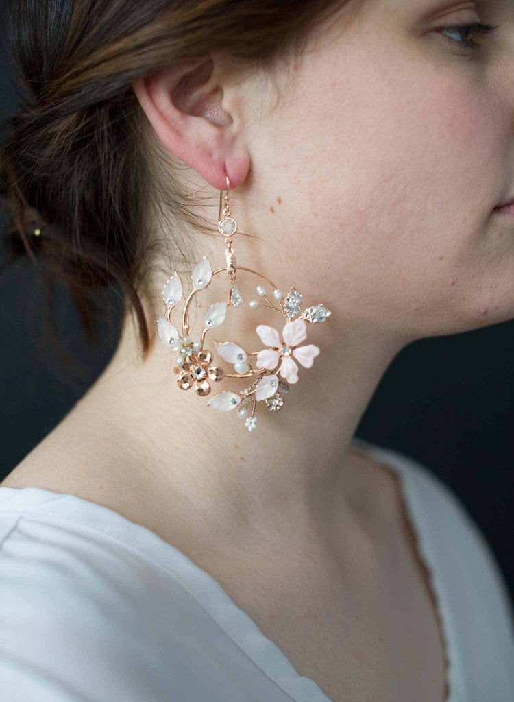 Garden floral earrings - Style #9026