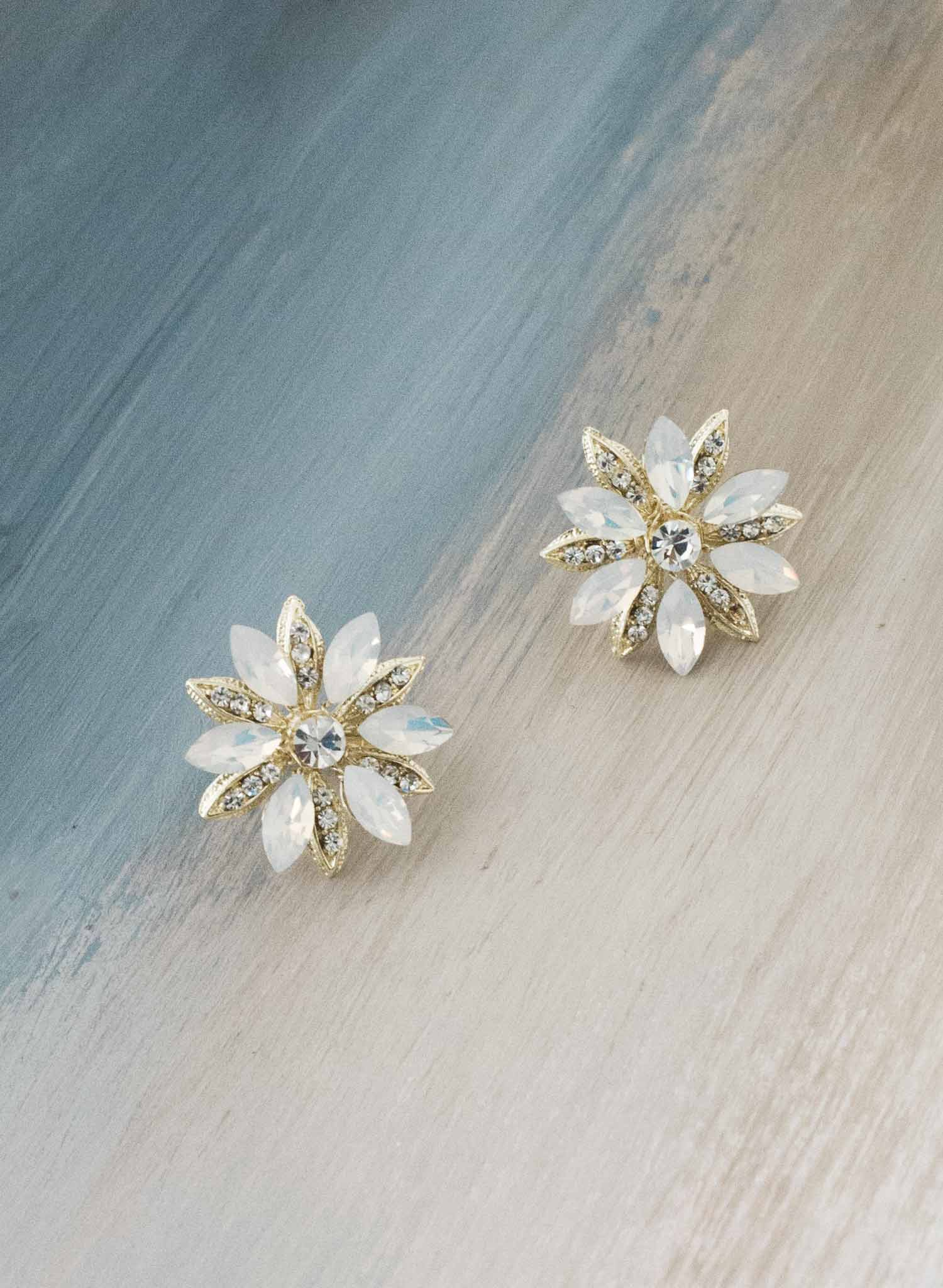 Regal opal starburst earrings - Style #9032