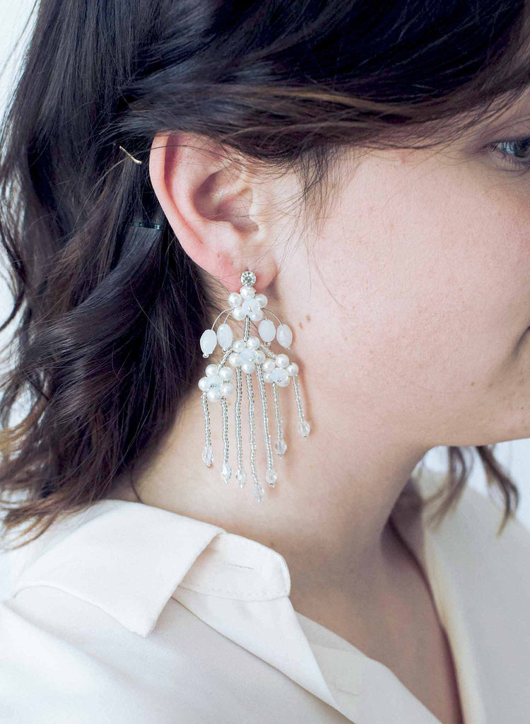 Cascading opal waterfall earrings - Style #9038