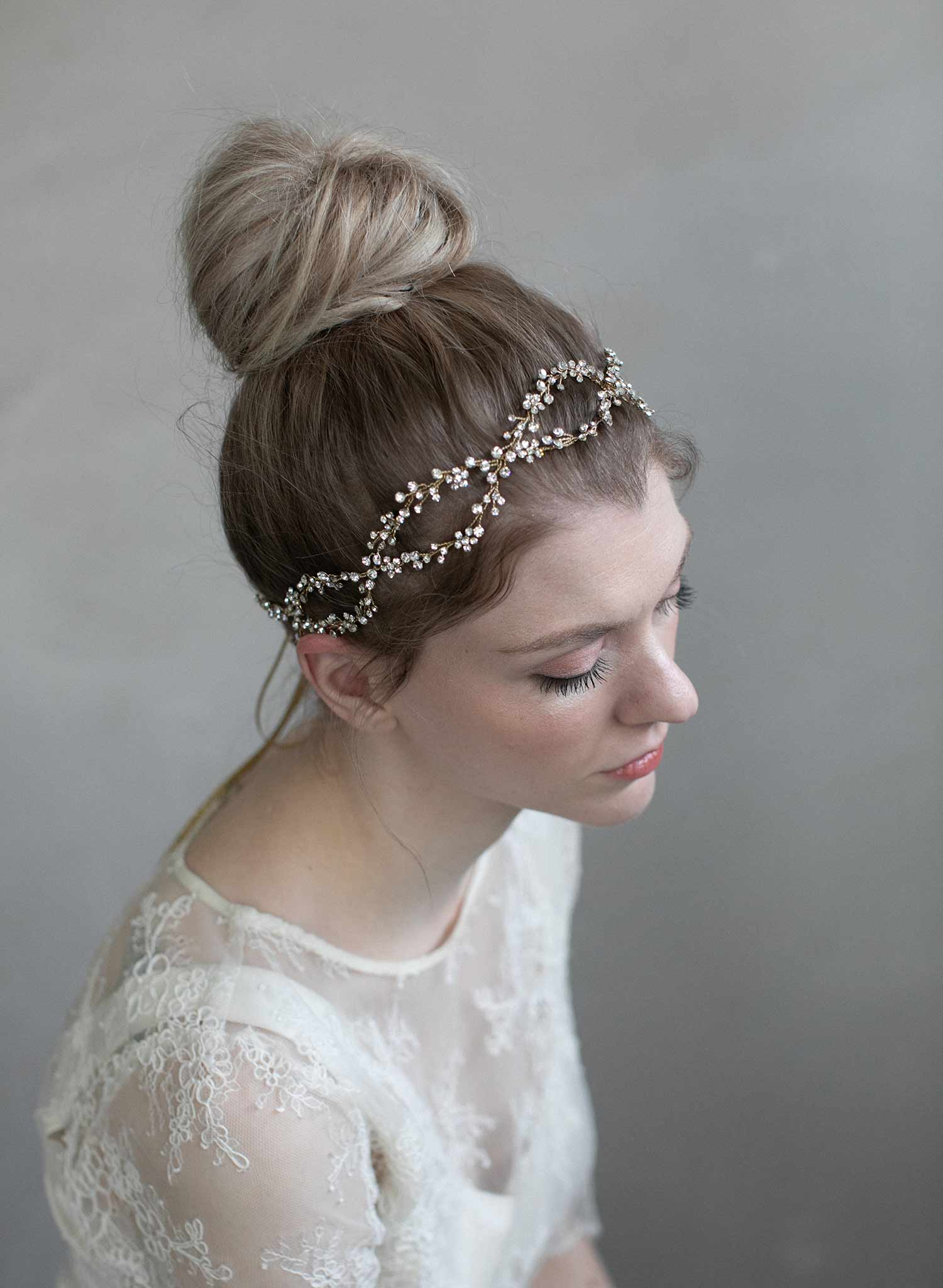 infinity hair style hair vines bridal hair vines vines twigs 5360 | 905 crystal infinity hair vine bridal weddingheadband twigsandhoney 0008 1