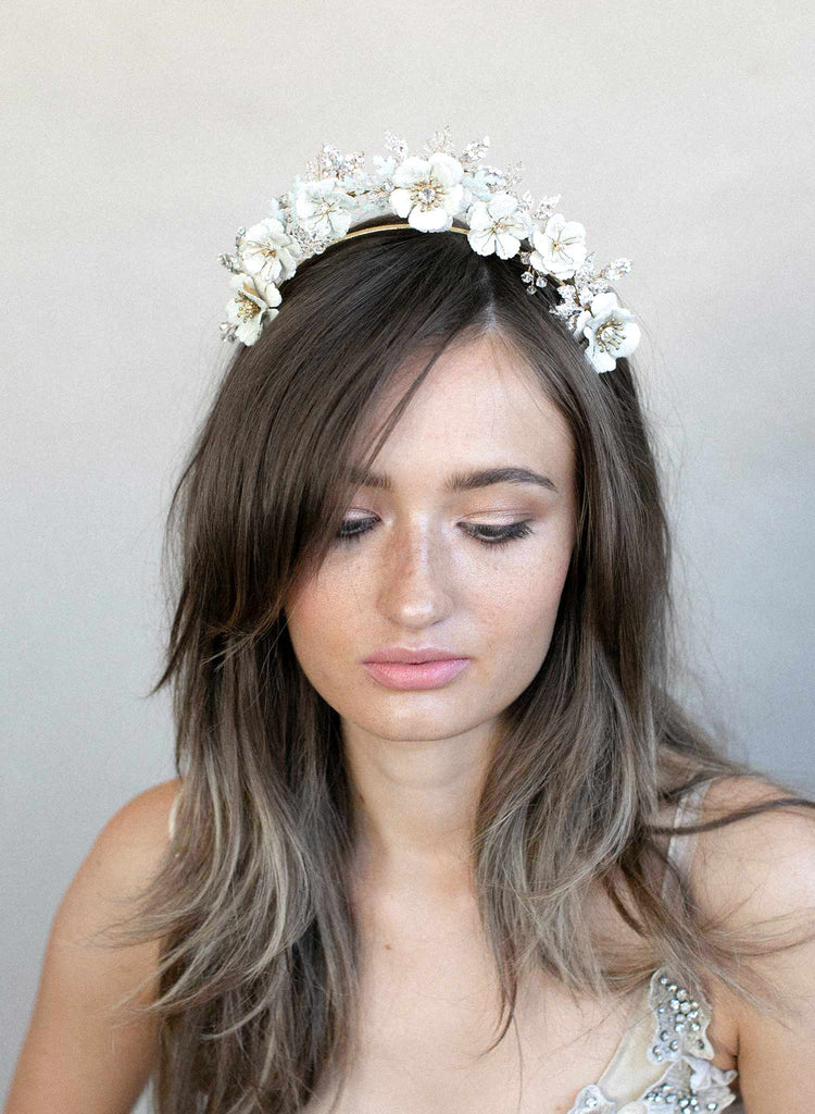 Sugared flowers dream tiara - Style #914