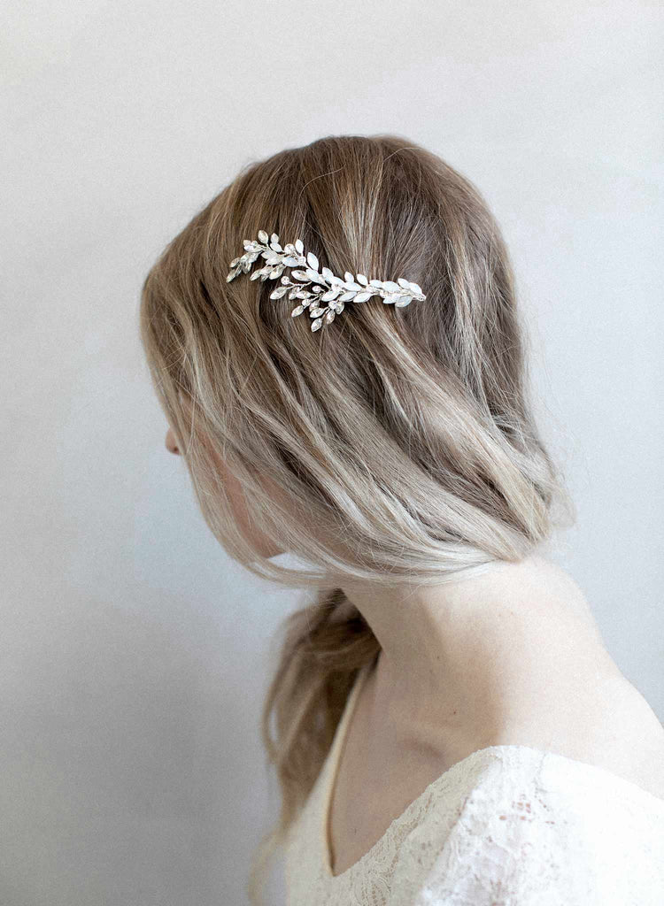 Crystal dove wing hairclip - Style #916