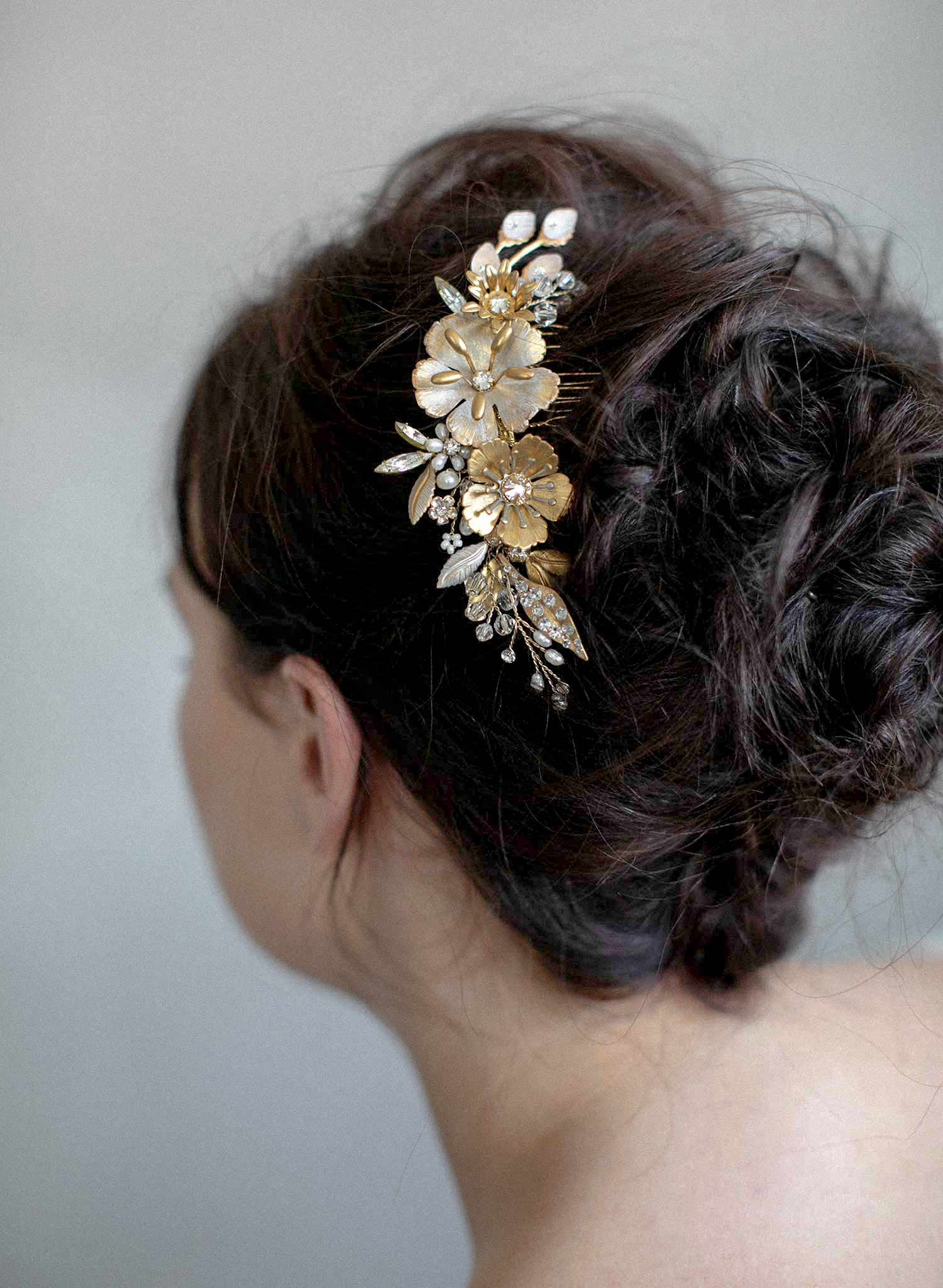 Patina blossom hair comb - Style #932