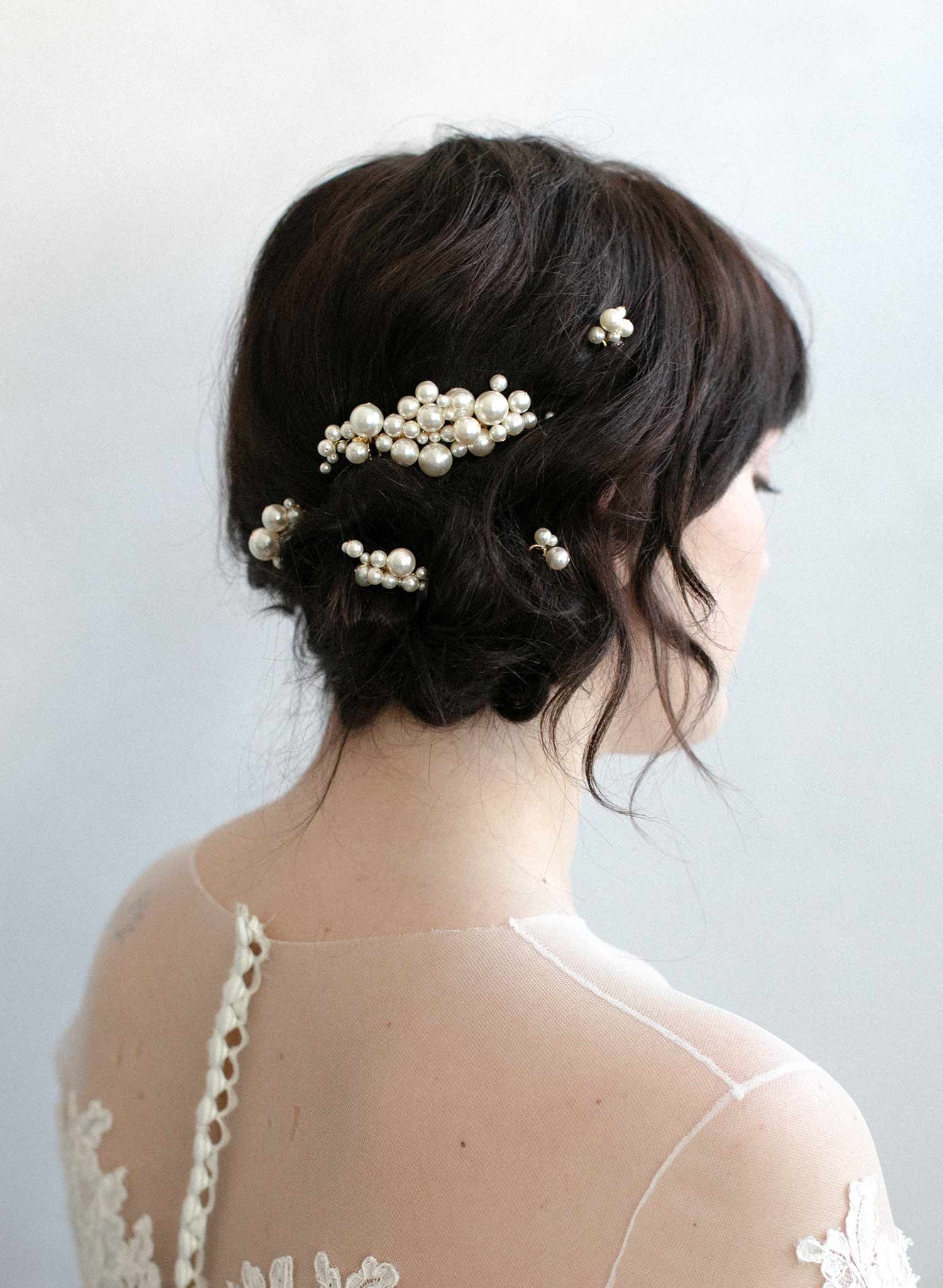 pearl bubbles hair comb set, twigs and honey