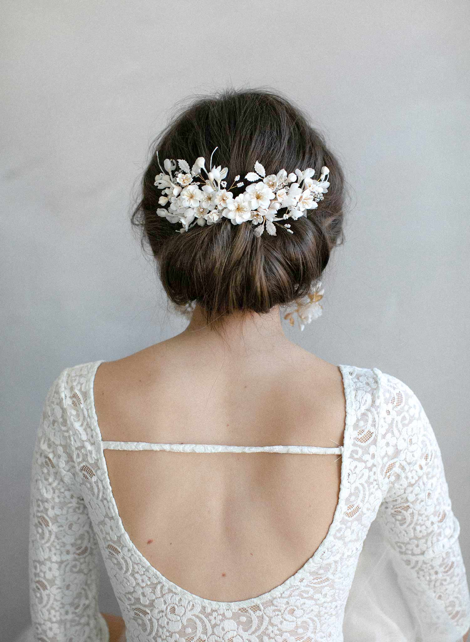 Creamy decadence floral headpiece - Style #939