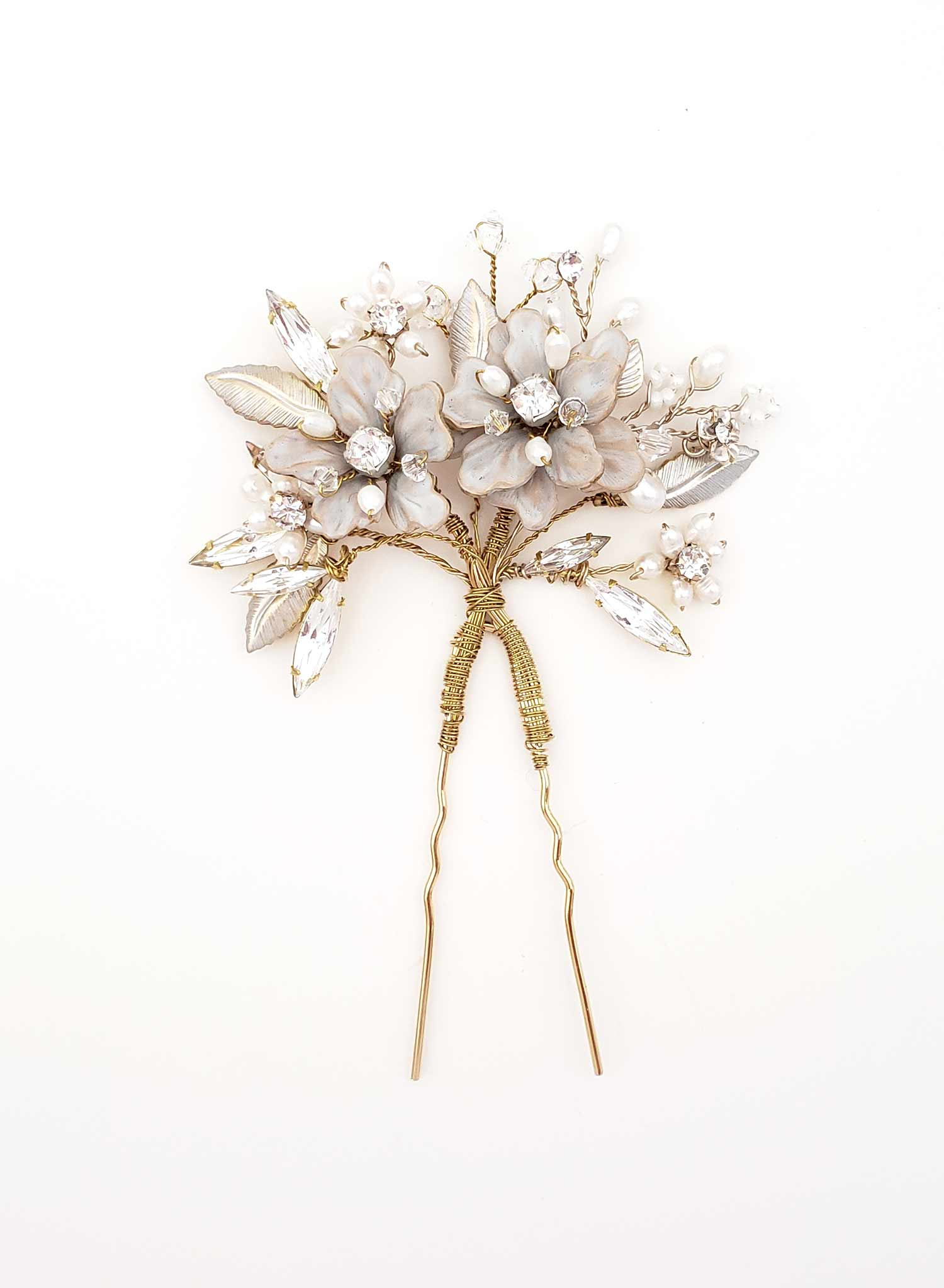 Frosted petite blossom hair pin - Style #943