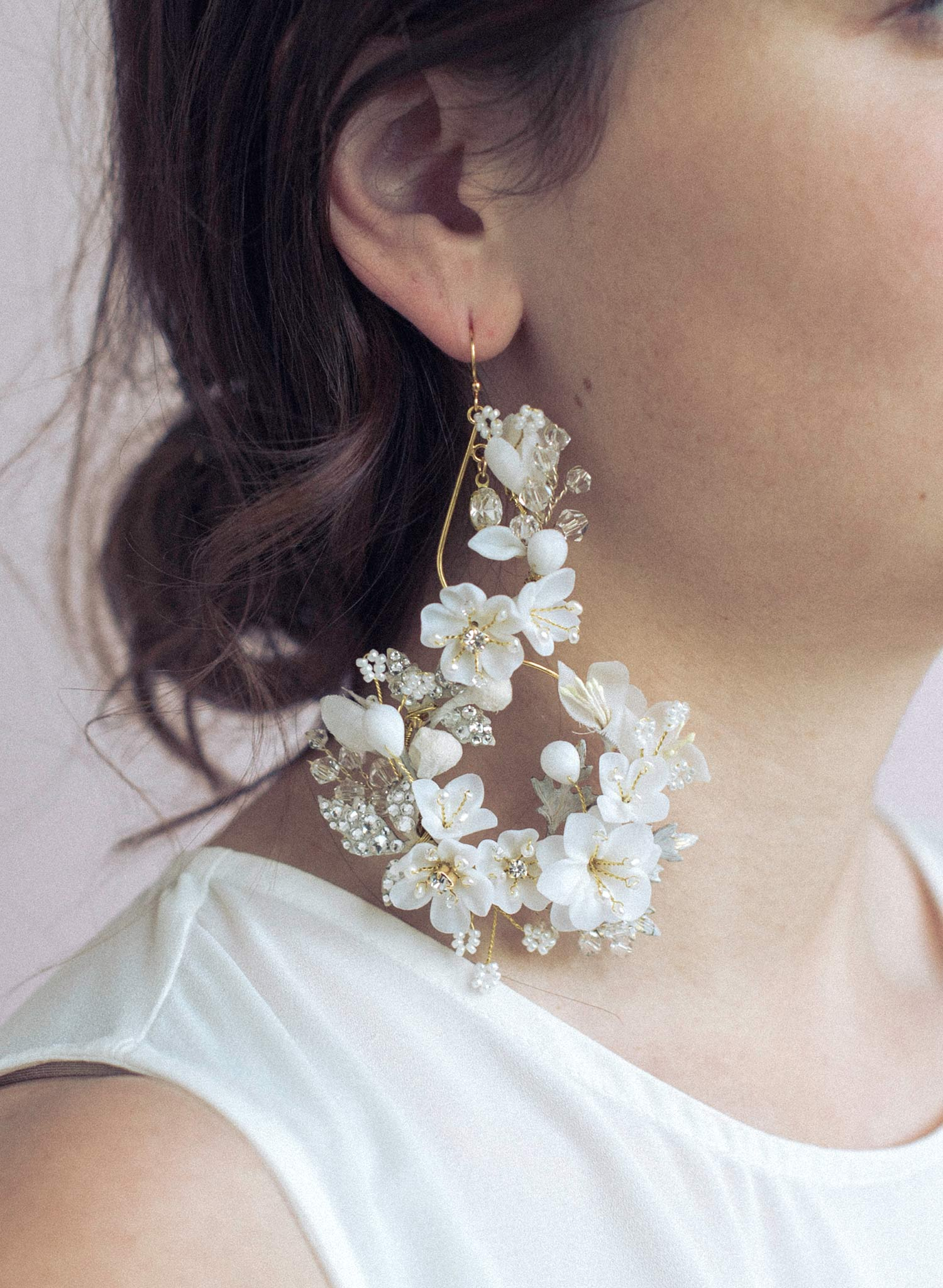 Decadent blossom chandelier earrings - Style #949