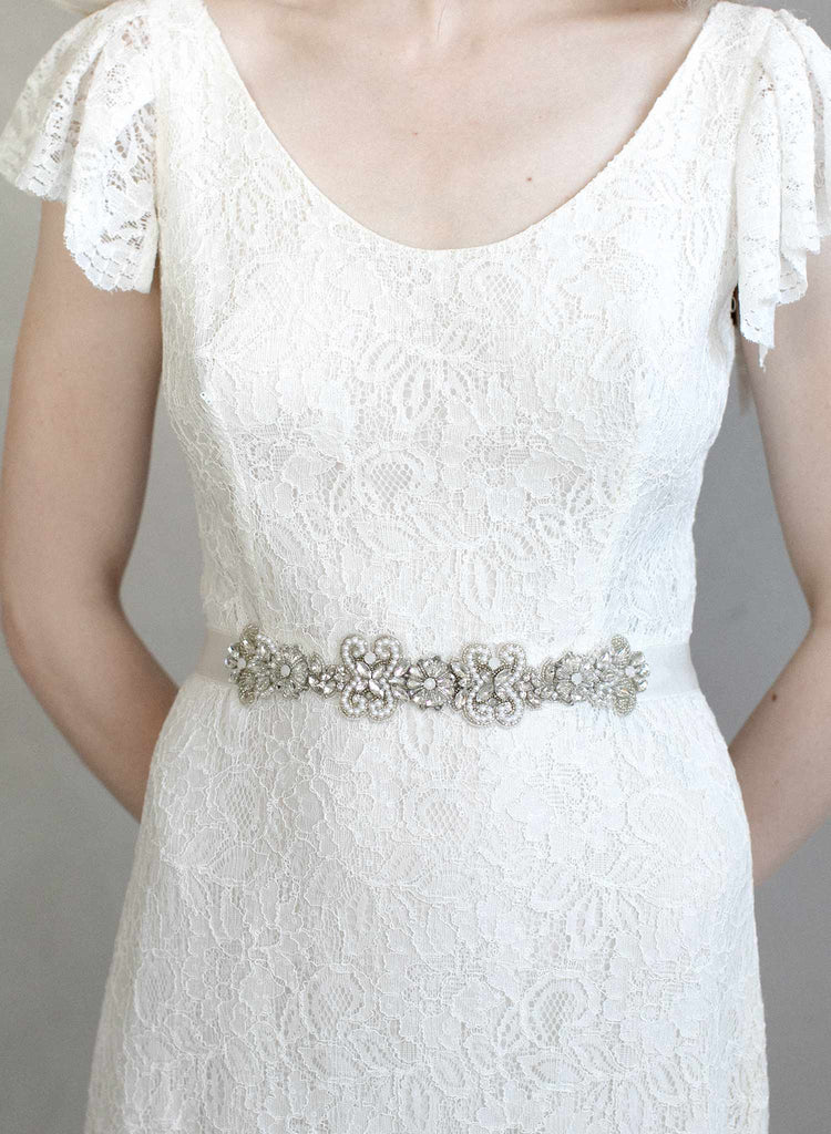 Pearl and crystal sash - Style #963