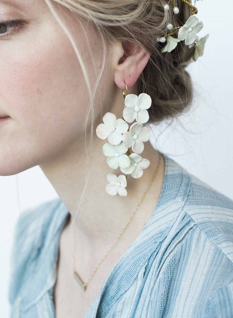 Hydrangea earrings - Style #9039