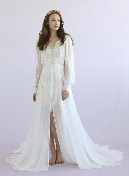 Petunia Long Sleeve Silk Gown Style Th026 Twigs