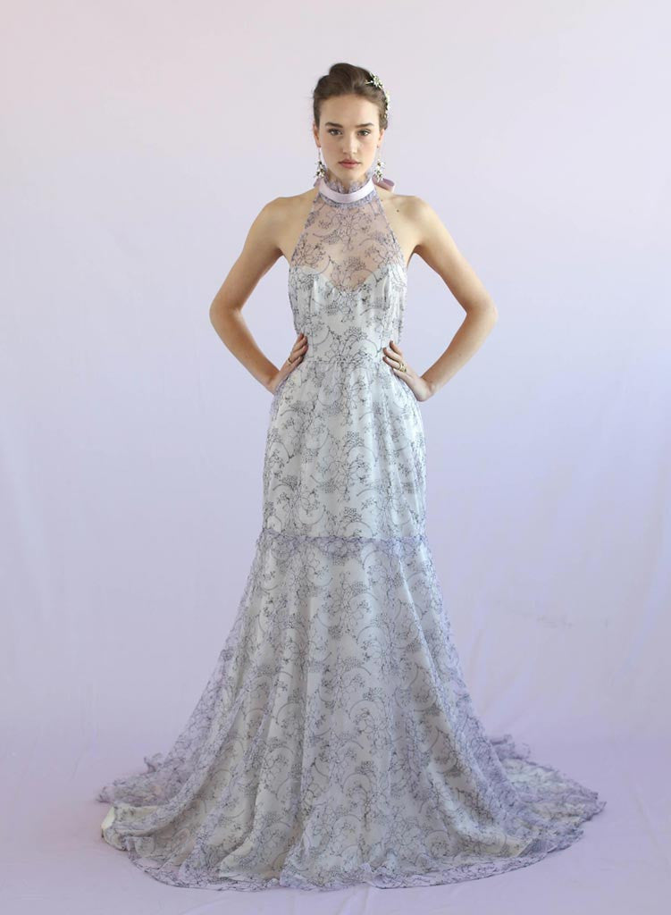 Wisteria - Lace halter gown - Style #TH024
