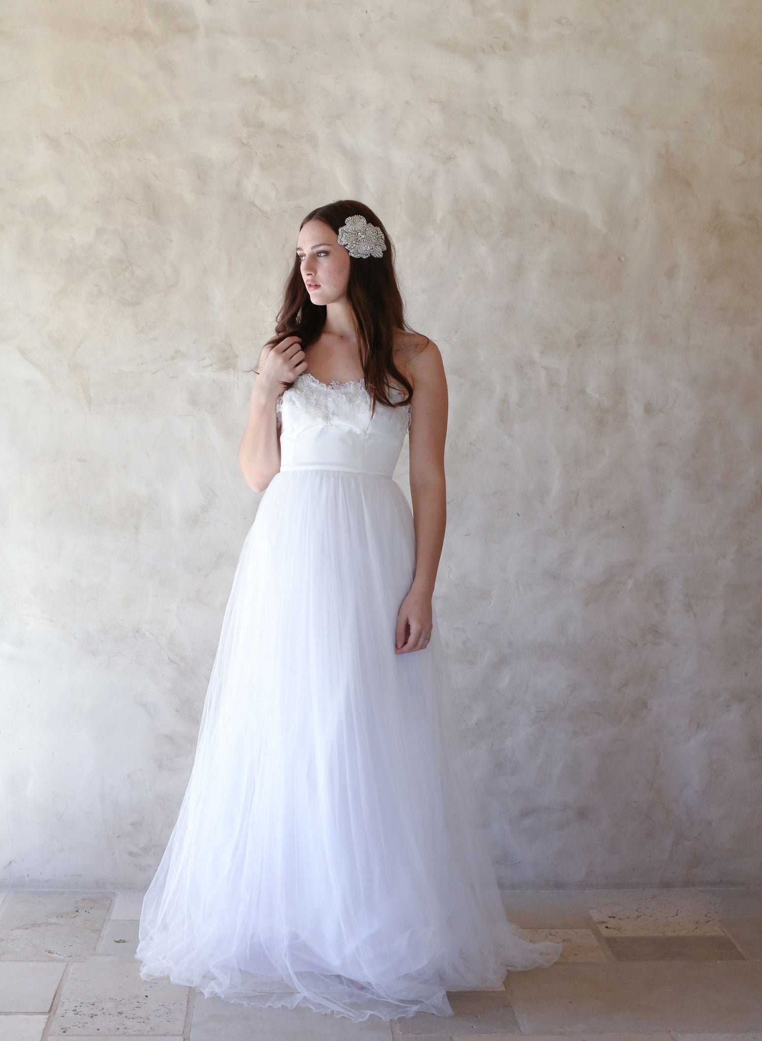 Aspen - Full skirt, strapless gown with lace - Style #TH013