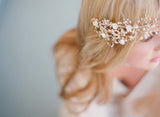 Double band crystal and pearl hair vine - Style # 312