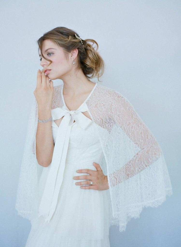 Gardenia - Sheer lace cape - Style # TH015